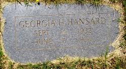 Georgia H. Hansard