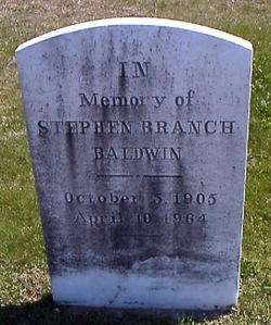 Stephen Branch Baldwin
