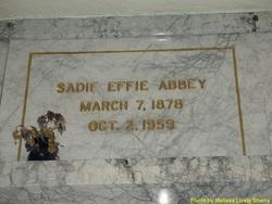 Sadie Effie <i>Tribby</i> Abbey