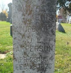 Martha J <i>Lewis</i> Apperson