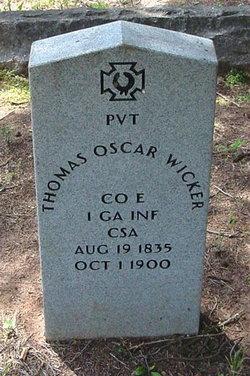 Pvt Thomas Oscar Wicker