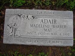 Madeline Mat <i>Barber</i> Adair
