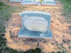 Alice Mae <i>Infinger</i> Ahl