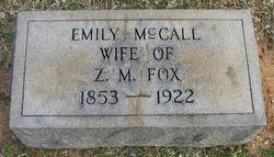 Emily <i>McCall</i> Fox