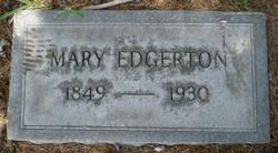 Mary A. <i>Jones</i> Edgerton