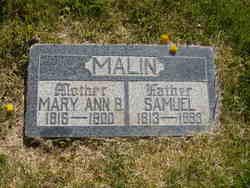 Mary Ann <i>Bosley</i> Malin
