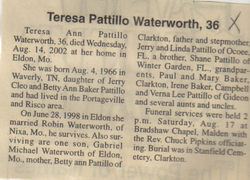 Teresa Ann <i>Pattillo</i> Waterworth