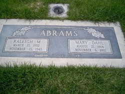 Mary Louisa <i>Dahl</i> Abrams