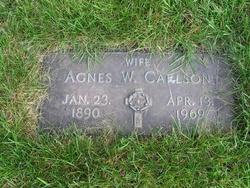 Agnes W Carlson