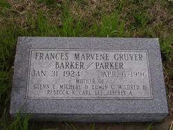 Frances Marvene <i>Gruver</i> Barker/Parker