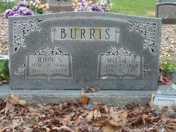 Mittie Belle <i>McElroy</i> Burris