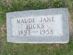 Maude Jane <i>Cheshier</i> Hicks