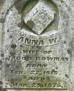 Anna W. Bowman
