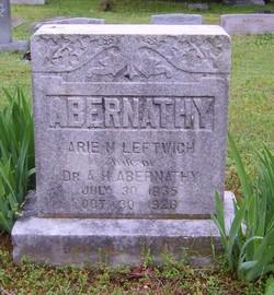 Arie M <i>Leftwich</i> Abernathy
