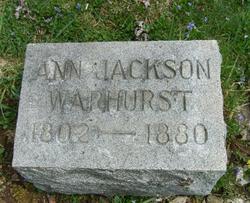 Ann <i>Jackson</i> Warhurst