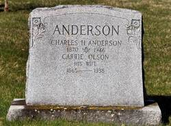 Carrie <i>Olson</i> Anderson