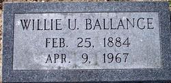Willie Uriah Ballance