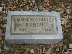 Mary Mollie Mollie <i>Young</i> Bunch