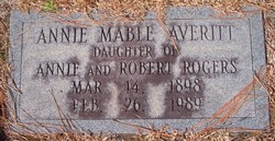Annie Mabel <i>Rogers</i> Averitt