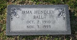 Irma <i>Hundley</i> Ball