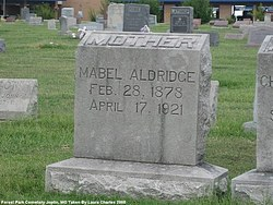 Cora Mabel <i>Comstock</i> Aldridge