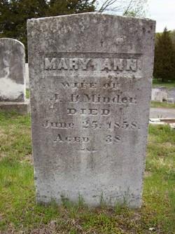 Mary Ann <i>Manville</i> Minder