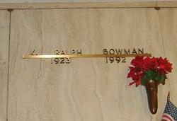 Kenneth Ralph Bowman