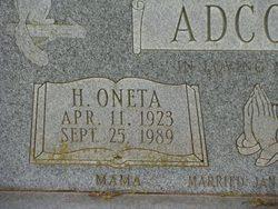 H Oneta Adcock