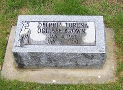 Delphia Lorena Deb <i>Ogilbee</i> Brown