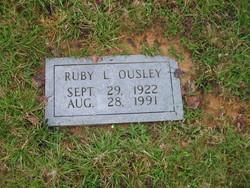 Ruby Lucille <i>Shumate</i> Ousley