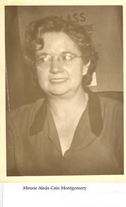 Minnie Aleda <i>Cain</i> Montgomery