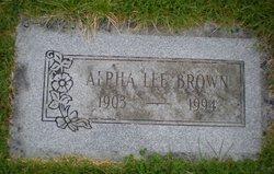 Alpha Lee Brown