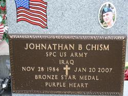 Spec Jonathan Bryan Chism