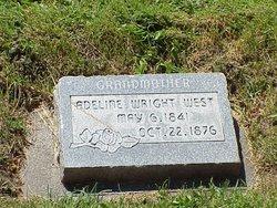 Adeline Amanda <i>Wright</i> West Canfield