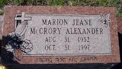 Marion Jeane <i>McCrory</i> Alexander