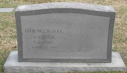 Effie <i>McCausley</i> Jackson