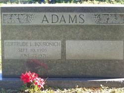 Gertrude L <i>Bouronich</i> Adams