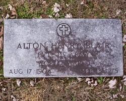 Pvt Alton Henry Blair