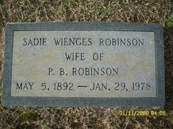 Sarah Witherspoon Sadie <i>Wienges</i> Robinson