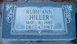 Ruth Ann <i>Crowl</i> Hiller