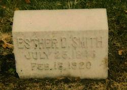 Esther D <i>Daniels</i> Smith