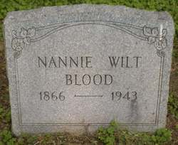 Nannie <i>Wilt</i> Blood