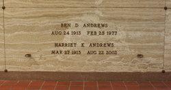 Harriet Katherine <i>Barngrover</i> Andrews