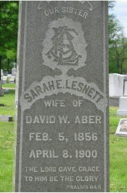 Sarah E. <i>Lesnett</i> Aber