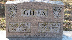 Thelma Janice Jan <i>Ward</i> Giles