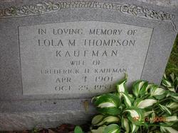 Lola M <i>Thompson</i> Kaufman