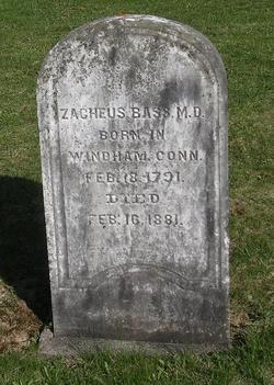 Dr Zacheus Bass
