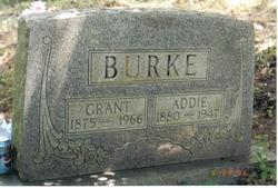 Rebecca Adaline Addie <i>Clifton</i> Burke