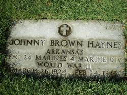 PFC Johnny Brown Haynes