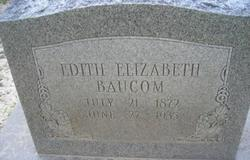 Edith Elizabeth <i>Himmel</i> Baucom